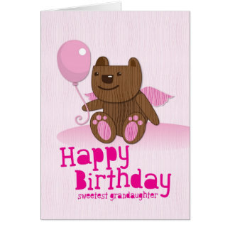 Happy Birthday Sweetest Grandaughter Card