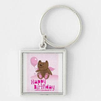 Happy Birthday Sweetest Grandaughter Key Chain