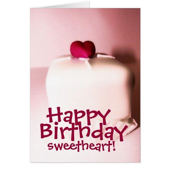 Happy birthday sweetheart card zazzle happy birthday sweetheart card bookmarktalkfo Images