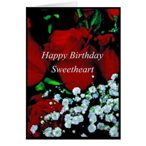 Happy birthday sweetheart cards