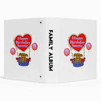 Happy Birthday Sweetie Puppy 3 Ring Binder