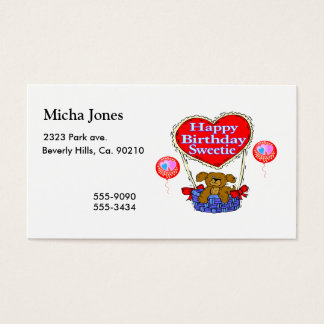Happy Birthday Sweetie Puppy Business Card