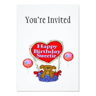 Happy Birthday Sweetie Puppy Card