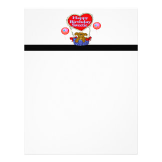 Happy Birthday Sweetie Puppy Letterhead