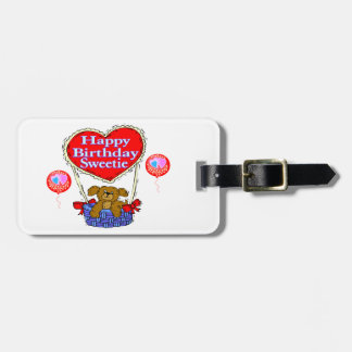 Happy Birthday Sweetie Puppy Luggage Tag