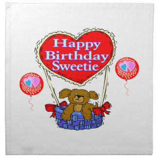 Happy Birthday Sweetie Puppy Napkin