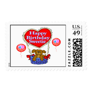 Happy Birthday Sweetie Puppy Postage