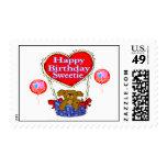Happy Birthday Sweetie Puppy Stamp