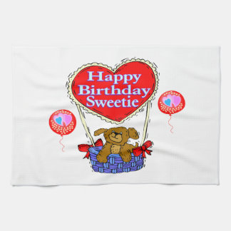 Happy Birthday Sweetie Puppy Towel