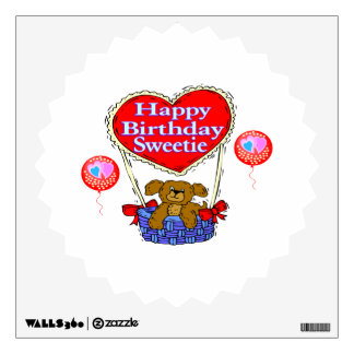 Happy Birthday Sweetie Puppy Wall Decal