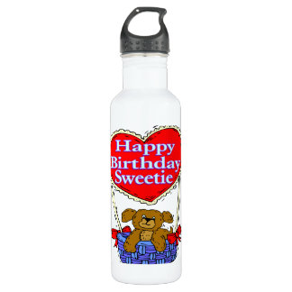 Happy Birthday Sweetie Puppy Water Bottle