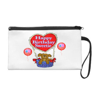 Happy Birthday Sweetie Puppy Wristlet