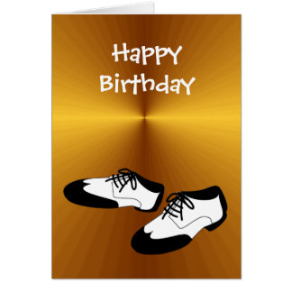 Happy Birthday Swing Dance Shoes for Dancers Card