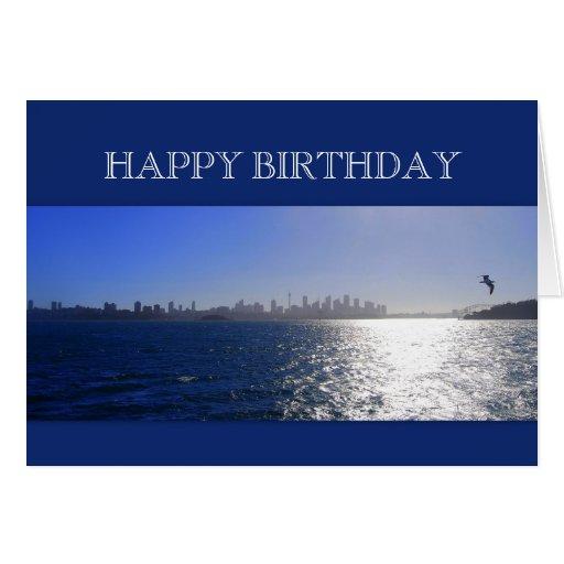 Happy birthday sydney australia harbor greeting cards