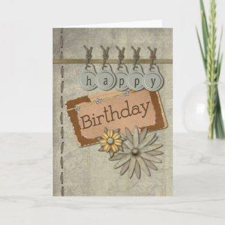 Happy Birthday Tags zazzle_card