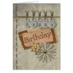 Happy Birthday Tags Greeting Card
