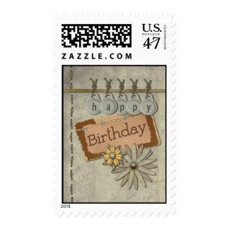 Happy Birthday Tags Postage