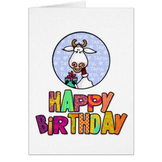 Happy Birthday - Taurus Card