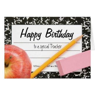 Happy Birthday Teacher Card