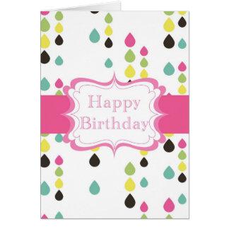 Happy Birthday (tear drops) Greeting Card
