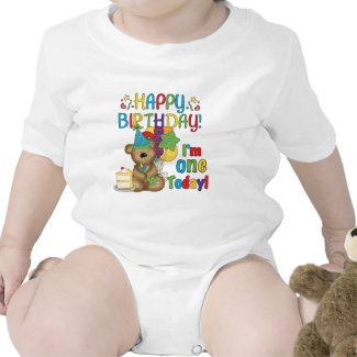 Happy Birthday Teddy Bear 1st T-shirts and Gifts shirt