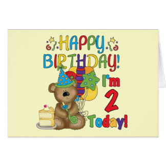 Happy Birthday Teddy Bear 2nd Birthday Card