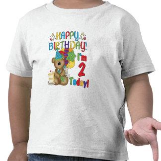 Happy Birthday Teddy Bear 2nd Birthday T-shirt