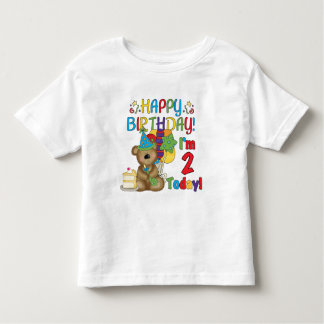 Happy Birthday Teddy Bear 2nd Birthday Tshirt