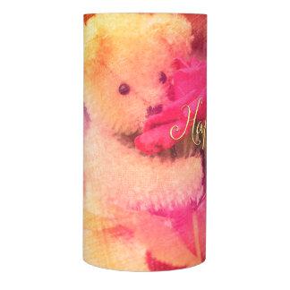 Happy Birthday Teddy Bear Flameless Candle