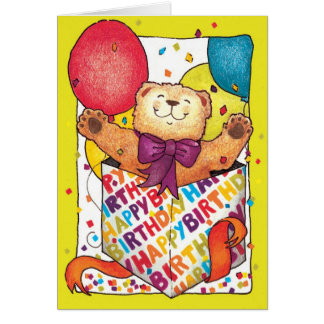 Happy Birthday Teddy Bear Greeting Cards