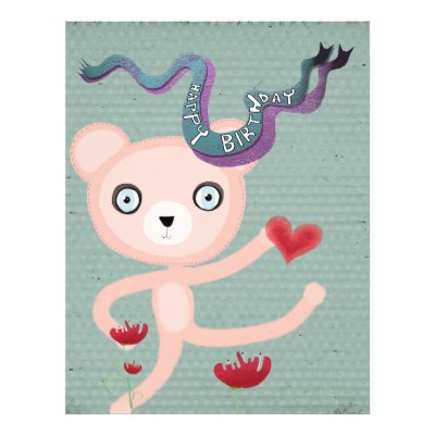 Happy birthday teddy bear poppy flyer by Rupydetequila. Happy Birthday !