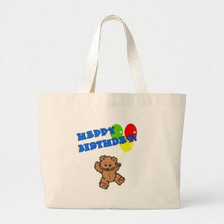 Happy Birthday Teddy Bear with Balloons Bag
