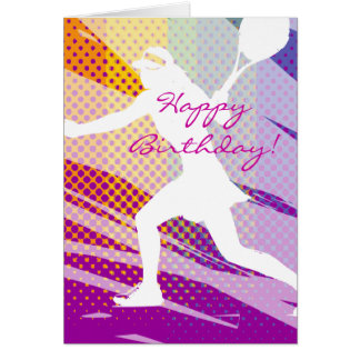 Happy Birthday Tennis Card for women and girls