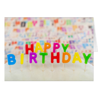 Happy Birthday Text Card