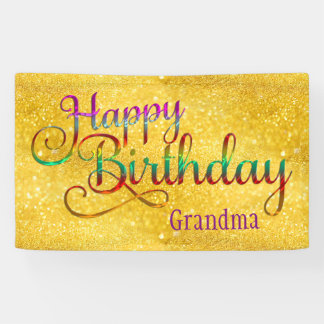HAPPY BIRTHDAY - text design + your own ideas Banner