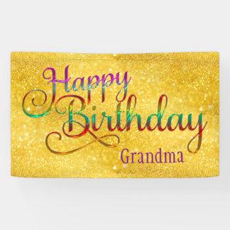 HAPPY BIRTHDAY - text design + your own ideas Banner