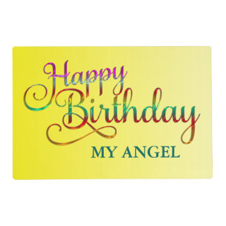HAPPY BIRTHDAY - text design + your own ideas Placemat