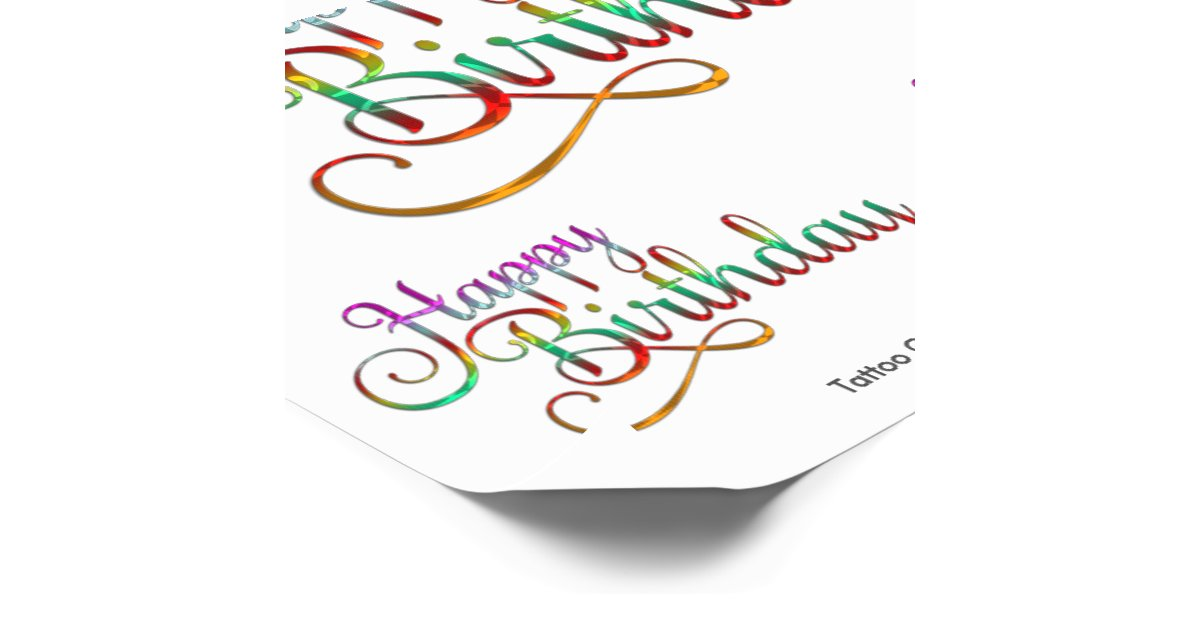 Happy birthday text design your own ideas temporary for Design your own tattoo app