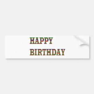 HAPPY BIRTHDAY TEXT :  HappyBIRTHDAY lowprice GIFT Bumper Stickers