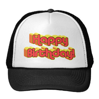 Happy Birthday Text Hats