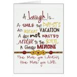 "HAPPY BIRTHDAY/THANK U FOR MAKING ""ME"" LAUGH! GREETING CARD"