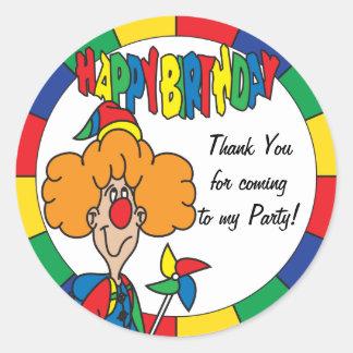 Happy Birthday Thank You Classic Round Sticker