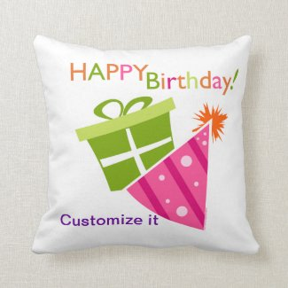 Happy Birthday Throw Pillows