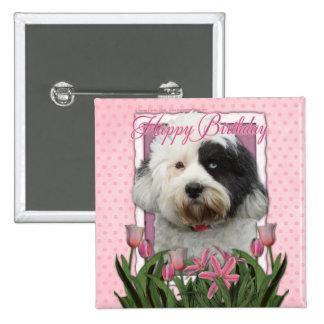 Happy Birthday - Tibetan Terrier Pinback Button
