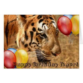 HAPPY BIRTHDAY TIGER! GREETING CARD