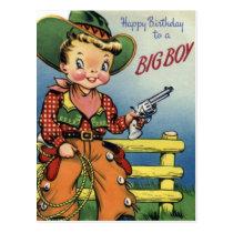 Happy Birthday To a Big Boy Postcard