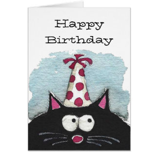 Happy Birthday to a cat lover Card