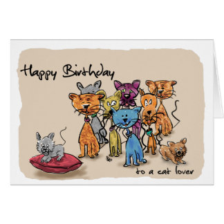 Happy Birthday ...to a cat lover Card