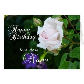 Happy Birthday to a dear Nana-Pink Rose Card