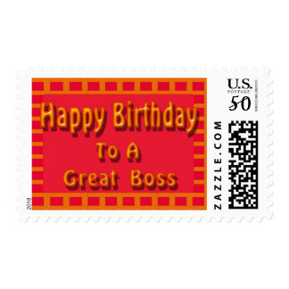 Happy Birthday to a Great Boss Postage